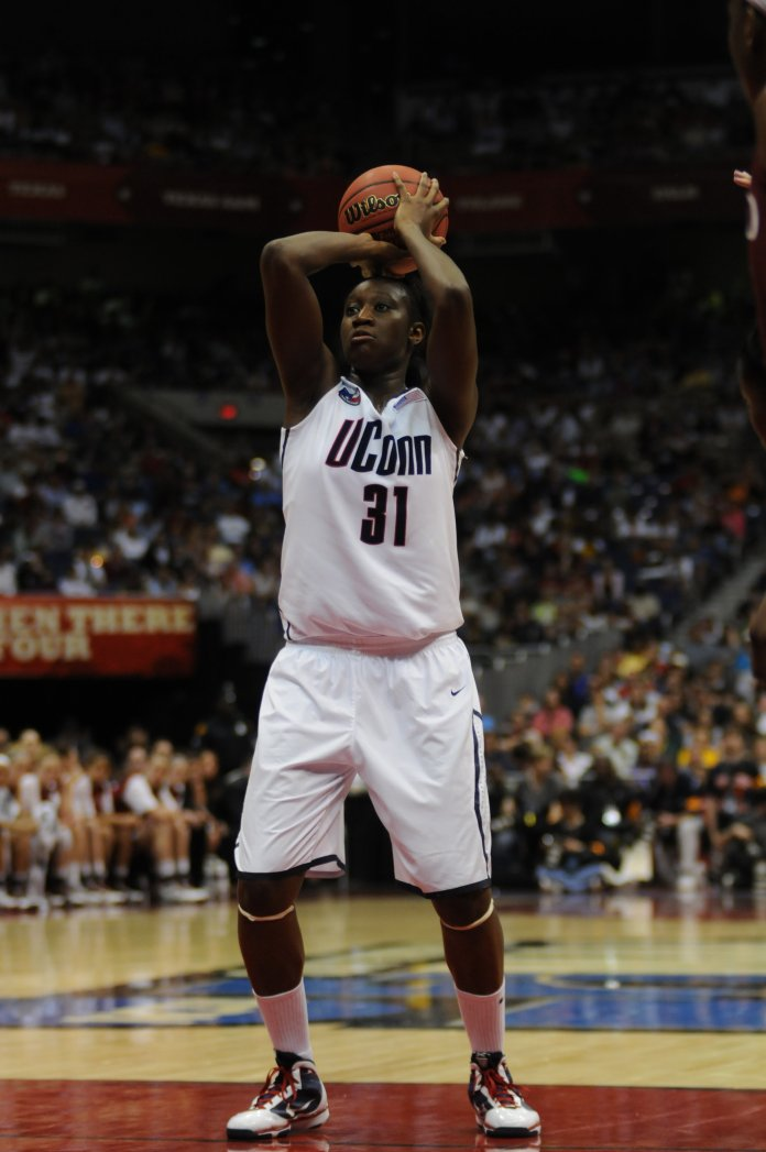 Charles taking a free throw during the National Championship against Stanford on April 6, 2010. (File photo)