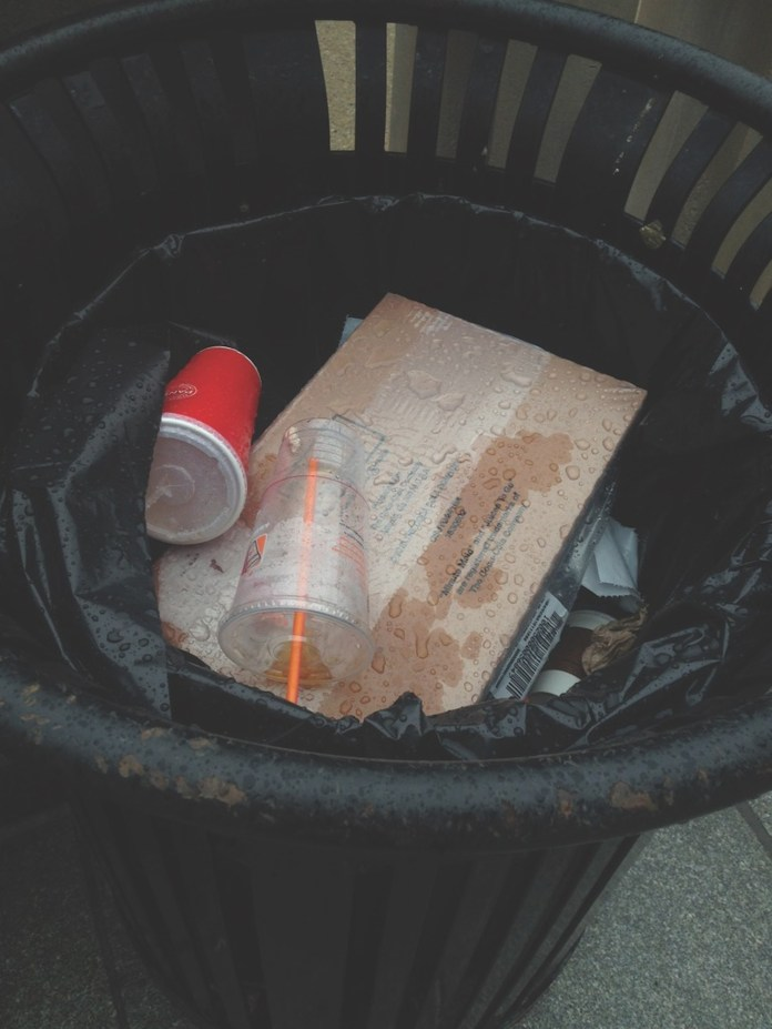 Recyclable items can be found all around campus in trash cans. The Daily Campus sat down the Environmental Policy Intern to discuss the problem. (Dan Wood/The Daily Campus)