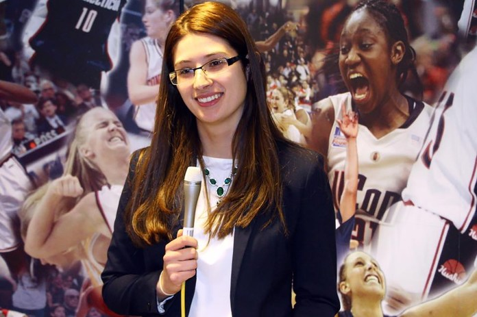 Pictured: Daniela Marulanda, writer for the Daily Campus. In this article she discusses redefining what it means to be a female sports fan. (File photo/ The Daily Campus)