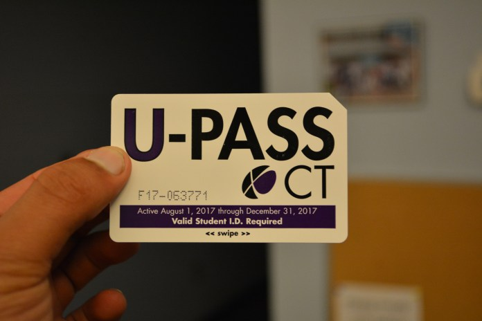 The UPass allows UConn students, faculty and staff to ride the new CTtransit bus service route that connects riders via public transportation from the UConn Storrs campus to Hartford. (Amar Batra/The Daily Campus)