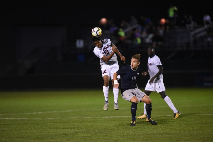 UConn tied No. 18 Georgetown at Morrone Stadium this weekend. (Charlotte Lao/The Daily Campus)