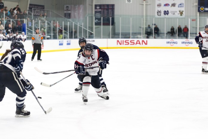 UConn women's hockey went 1-1 on the weekend at St. Cloud State. (File Photo/The Daily Campus)