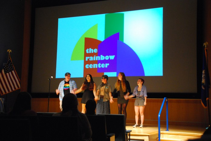 The Rainbow Center celebrates National Coming Out Day by inviting student speakers to share their personal coming out stories on Wednesday evening. (Alexis Taylor/The Daily Campus)