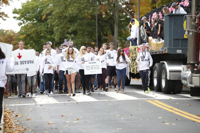 """On Oct. 9, six days before the parade was to take place, the presidents of the Greek organizations participating in Homecoming received an email from the Jamel Catoe, director of the Office of Fraternity and Sorority Life, which stated that floats were not to be built, though participating organizations could still build """"wheeled props"""" for the parade. (File/The Daily Campus)"""