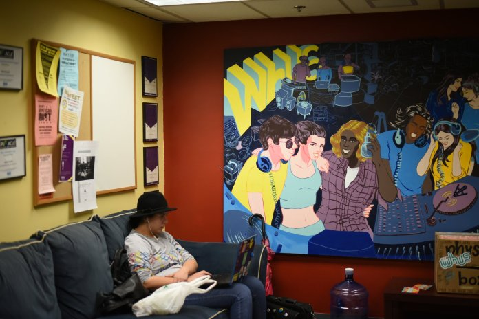 The WHUS office is in the fourth floor of the Student Union. They are currently looking for a news director. (Charlotte Lao/The Daily Campus)