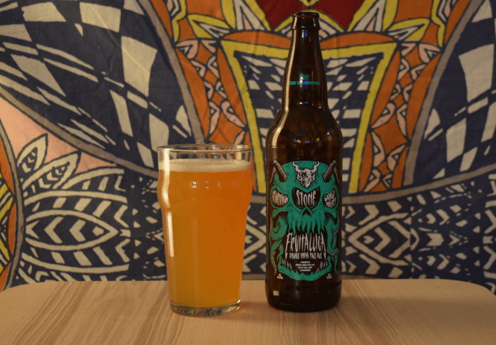 This week's featured beer, Fruitallica, is a double India pale ale, purchased from the Villa Spirit Shoppe in Storrs. (Will Harris/The Daily Campus)