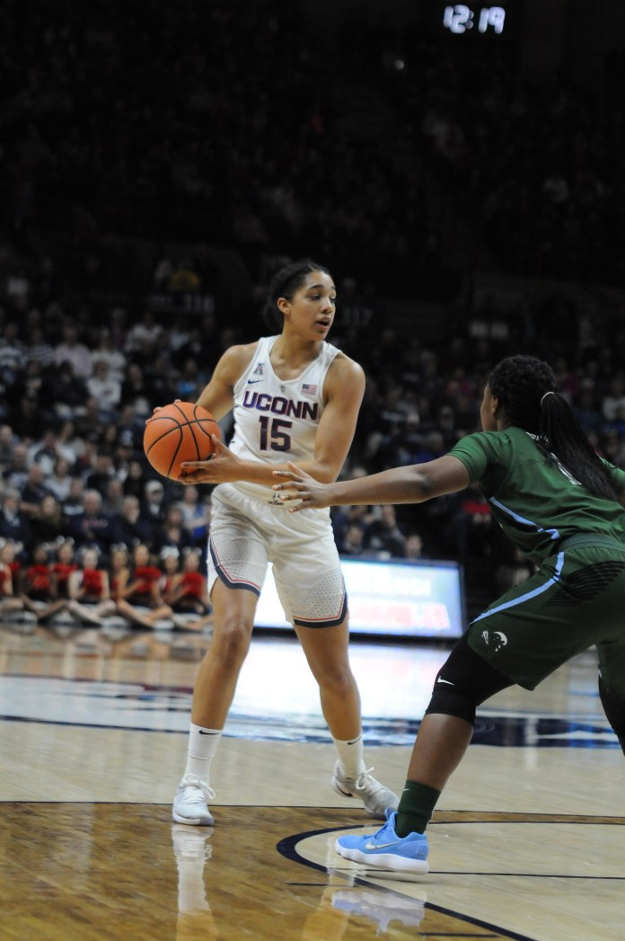 Gabby Williams (pictured) turned in another strong performance against Tulane on Saturday afternoon (Olivia Stenger/The Daily Campus)
