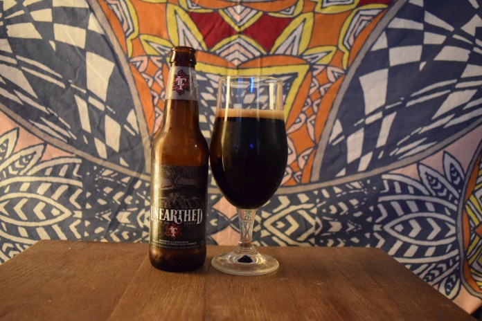 This week's pour is Unearthed by Long Trail Brewing Company. (Will Harris/The Daily Campus)