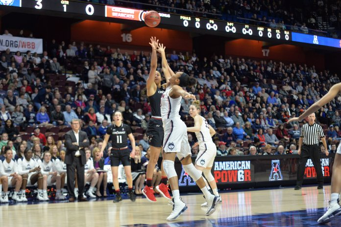 Next up, the Huskies will meet the USF Bulls for the third time this season and for the fourth consecutive year in a bid to win the American Athletic Conference championship game for the fifth time in five years. (Amar Batra/The Daily Campus)
