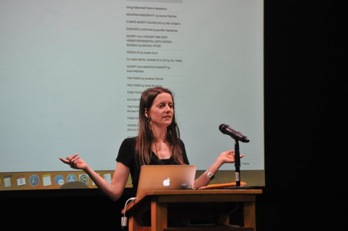 Staples' presentation was well-received by an audience of students and UConn Creative Writing Program members. (Judah Shingleton/The Daily Campus)
