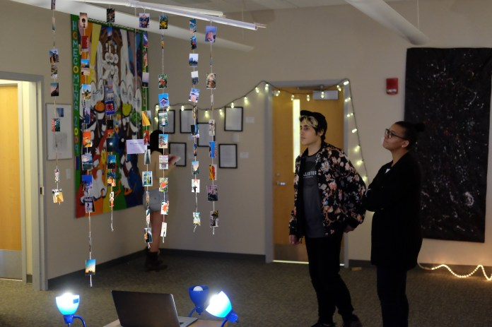 The Rainbow Center hosts numerous artists in an art gallery displayed on the fourth floor of the Student Union. The art ranges from paintings to sculptures to mobiles holding polaroids. (The Daily Campus)