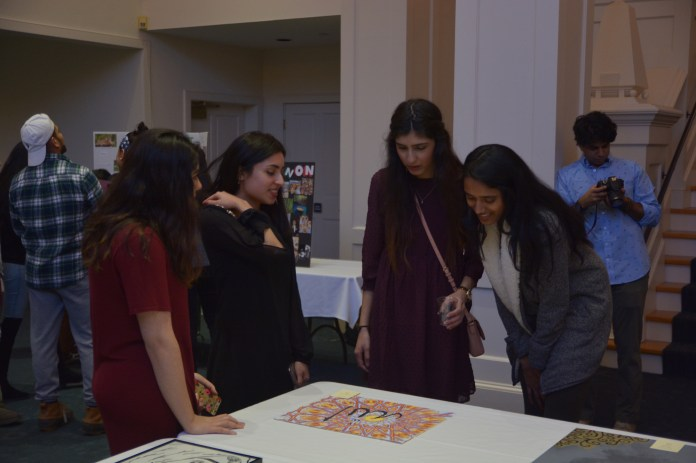 The Middle Eastern Student Association shows off art and culture of their UConn students representing Arab, Persian, and South Asian culture. Guests enjoyed snacks, informative presentations, art, music, and dance in the Alumni Center Monday night. (The Daily Campus)