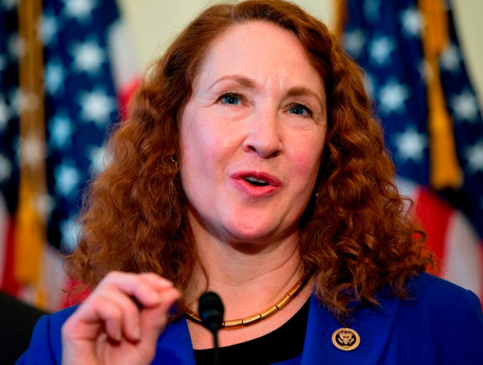 FILE - In this March 4, 2015, file photo, Rep. Elizabeth Esty, D-Conn. speaks on Capitol Hill in Washington. Esty on Monday, April 2, 2018, asked the House Ethics Committee to investigate whether she did anything wrong in her handling of the firing of her former chief of staff accused of harassment, threats and violence against female staffers in her congressional office. (AP Photo/Carolyn Kaster, File)