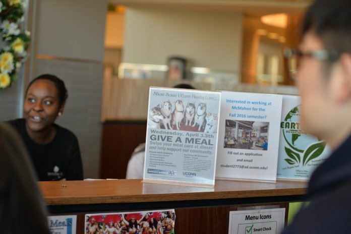 The donations will be divided equally among the benefitting organizations, Pierce said. The fundraiser benefits the Mansfield Food Pantry, No Freeze Shelter in Willimantic and the Covenant Soup Kitchen in Willimantic. (Amar Batra/The Daily Campus)