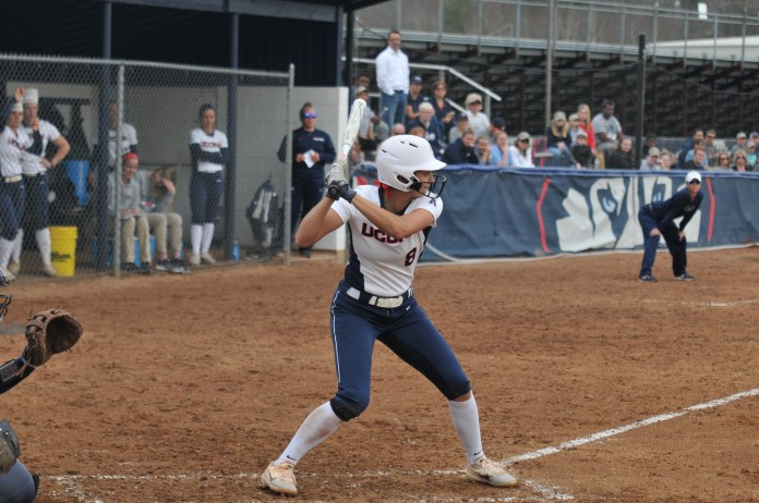 UConn welcomes ECU for a series at Burrill Field on Friday, Apr. 13. In a low scoring game, the Huskies fell to the Pirates 2-1 (Jon Sammis/The Daily Campus).