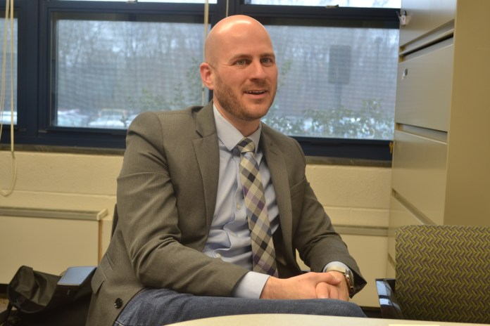 Dr. Leigh Fine joins the Honors Program as Assistant Director for Honors Residential Communities and Programming. He will start his new position on April 27. (Olivia Stenger/The Daily Campus)