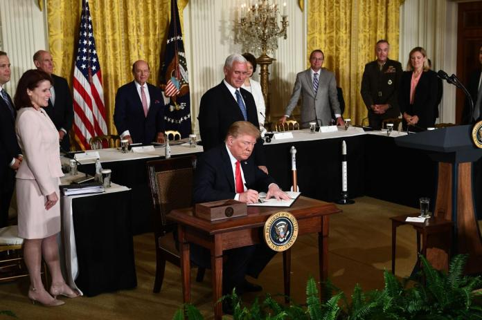 The Trump Administration's plan to create a sixth branch of the military called the Space Force.(National Geographic)