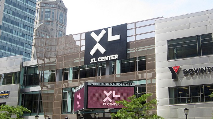 The XL Center, formermly the Civic Center, where the Wahlers once played (CBS Local Connecticut)