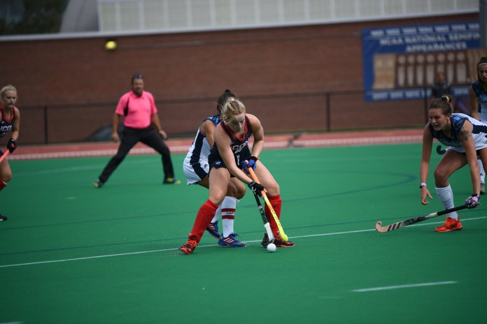 The Huskies defeat Quinnipiac with a score of 8-0 on Saturday, September 15. Cecile Pieper scored 6 of the 8 points for the Huskies to improve their record to 7-0. (Photo by Charlotte Lao/The Daily Campus)