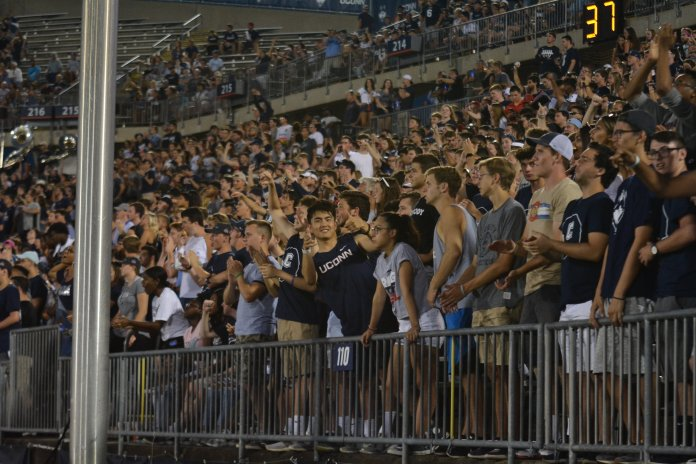 Fournier said the most common legal infractions police see at tailgates include underage drinking, causing a public disturbance and littering. (Eric Wang/The Daily Campus)