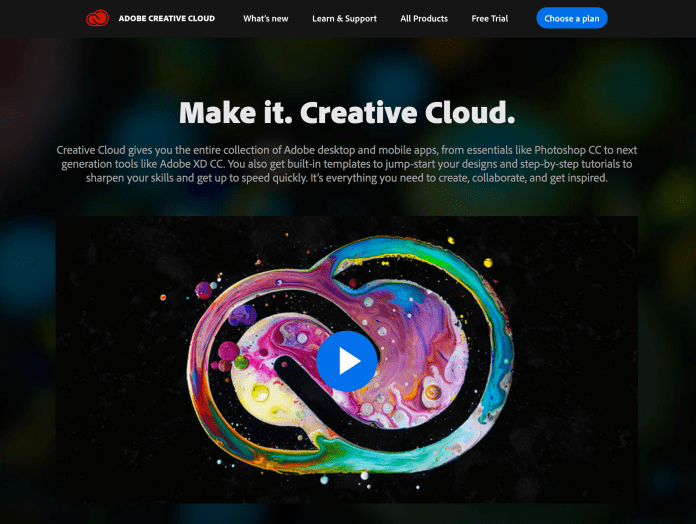 College is already expensive enough, and with the added cost of Adobe Creative Cloud some students have had enough. (Screenshot via  website )