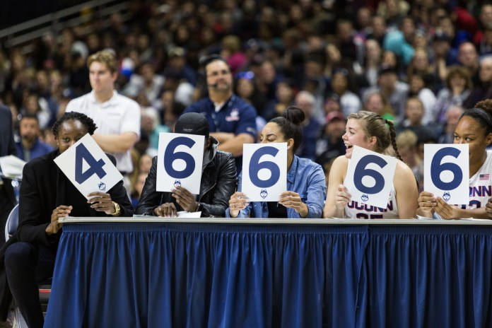 The UConn mens' and women' basketball teams kicked off the start of basketball season on Friday, October 14th at Gampel Pavilion. The event included a skills challenge, a dunk contest, and a scrimmage (File Photo/The Daily Campus)