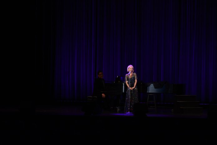 """The highlight of the show was when Chenoweth sang """"Popular"""" from the Tony Award-winning Broadway musical """"Wicked,"""" in which she starred in the original cast as Glinda the Good Witch. (Judah Shingleton/The Daily Campus)"""