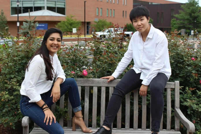 """The Daily Campus sat down with this year's Homecoming King and Queen, Qimei, or """"May"""", Liu, a junior majoring in women's gender and sexuality studies and Mahika Jhangiani, a senior majoring in political science to reflect on Homecoming before, during and after the event. (Photos by Anhthy Pham)"""