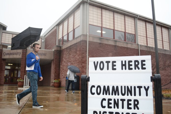 Voters came to the Community Center to make their voices heard on Election Day. (Judah Shingleton/The Daily Campus)