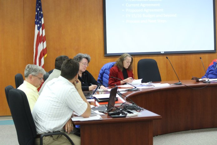 Members of the Four Corners Committee discuss new developments in Mansfield Sewage. (File/The Daily Campus)