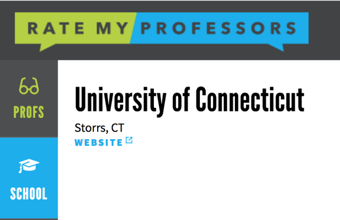 UConn students can find heaps of information regarding their professors and their classes on ratemyprofessors.com. (Photo courtesy of Rate My Professor)