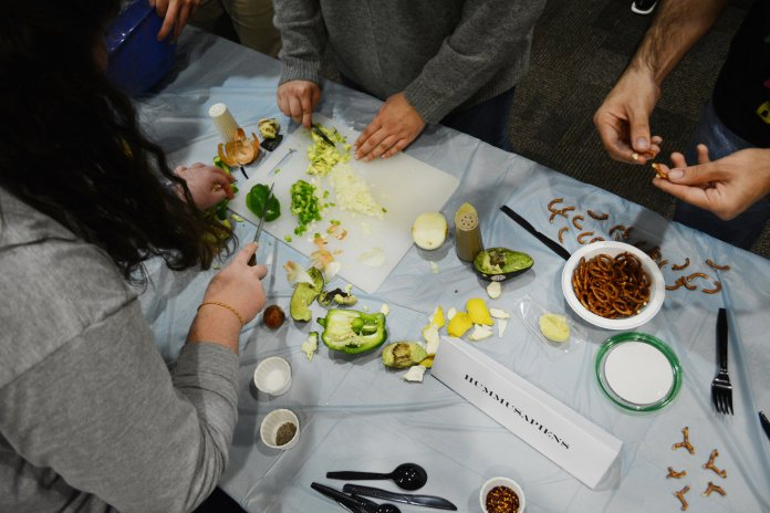 UConn Hillel holds its annual Hummus Experience at the Hillel building on November 27, 2018. Teams of students competed to make the greatest hummus creation out of plain hummus and a plethora of spices and other ingredients. (Judah Shingleton/ The Daily Campus)