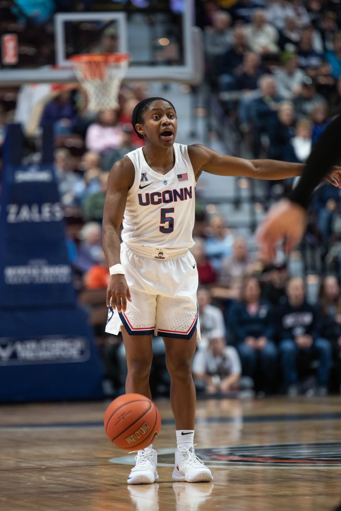 Crystal Dangerfield intends to use her speed and quickness to attack Baylor on offense and defense. Photo by Charlotte Lao/The Daily Campus