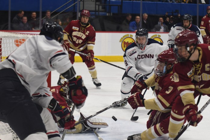 UConn and RPI faced off once already this season, with UConn winning by a score of 3-1 at RPI in October. (Judah Shingleton/The Daily Campus)