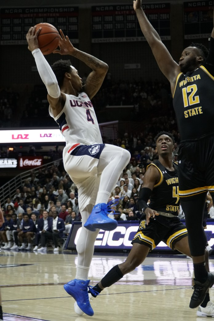 Jalen Adams was him typical self but the Huskies went on the road and lost to a strong UCF team (Eric Wang/The Daily Campus)