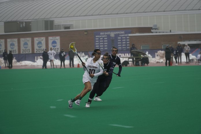 Huskies drop their home opener 13-12 and are still looking for their first win.Photo by Eric Wang/The Daily Campus