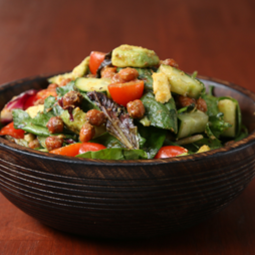 Roasted chickpea and avocado salad is easy to make and protein-packed. (tasty.co/screenshot)