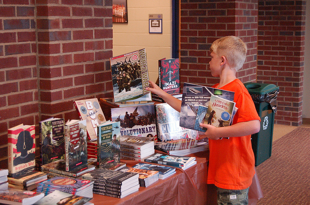 Many students reminisce  on the time the Scholastic Book Fair came to their school and turned the library into a miniature book store for just a few days. (Kentucky Country Day/Flickr Creative Commons)