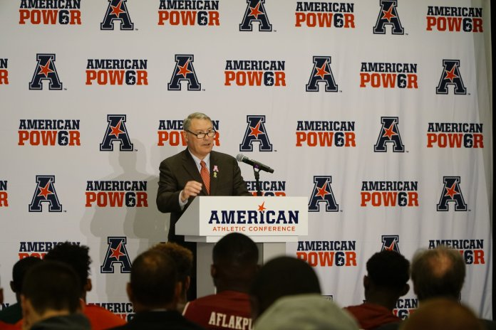 The American Athletic Conference and commissioner Mike Aresco will announce a new TV deal in the coming days. Photo by Eric Wang/The Daily Campus