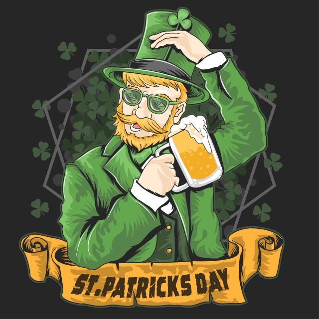 Remember to drink responsibly and enjoy your St. Patrick's Day! (Photo via pngtree.com)