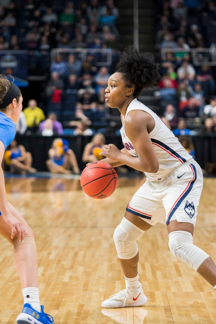 The Huskies dropped their first matchup against Louisville on Jan. 31. Several players said they have improved since that game. Photo by Eric Wang/The Daily Campus