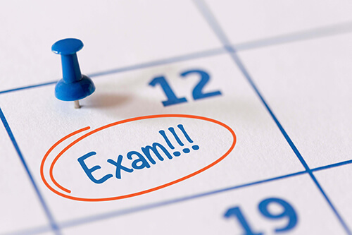 Changes needed for exam scheduling.