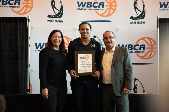 UConn seniors Katie Lou Samuelson and Napheesa Collier were named to the 10-player WBCA Coaches All-America Team (Charlotte Lao/Daily Campus).