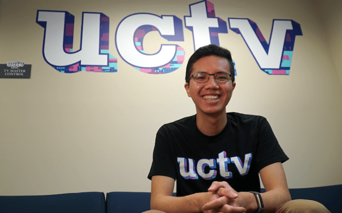 UCTV's next general manager will be Sam Huang, fourth-semester computer science and management information systems double major. (Photo supplied via writer)