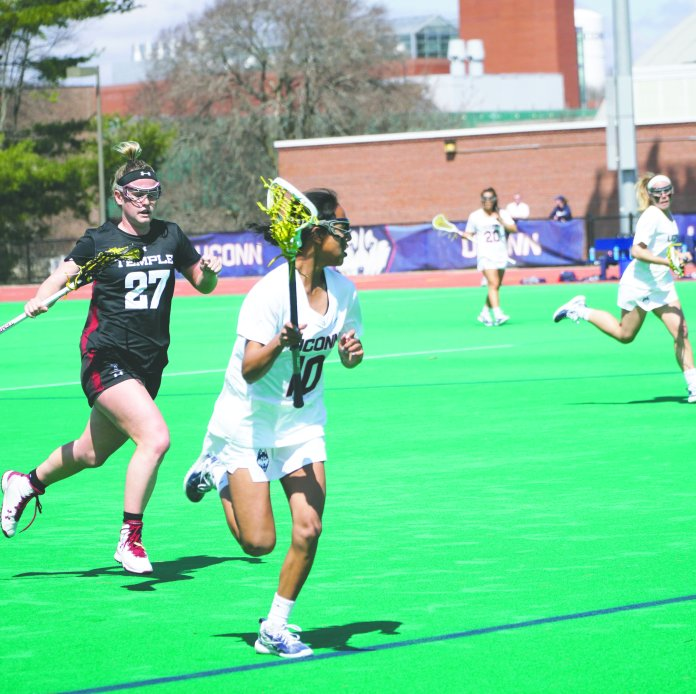 LaPrise finished her season with 20 goals and 17 assists, which gave her the second-most points (37) on the team (Photo by Eric Wang/The Daily Campus)