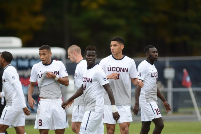 The Men's soccer team is excited to start their season this Friday night against Rider University.  Photo by Eric Wang / The Daily Campus