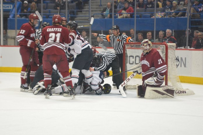 The Beanpot attracts thousands of fans to the rink each year. Cavanaugh believes the Connecticut Ice Festival can do the same for the Huskies.  File Photo / The Daily Campus.