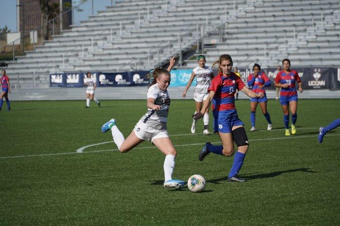 Women's Soccer: Huskies shock Mustangs with late winner in Hartford