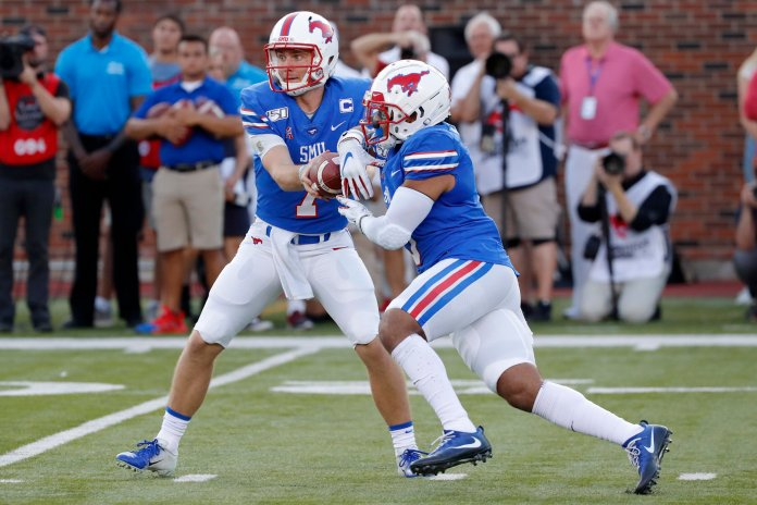 Southern Methodist University is off to a great start this season, but because they are in the weak AAC they could not handle teams like Florida.  Photo from the Associated Press.