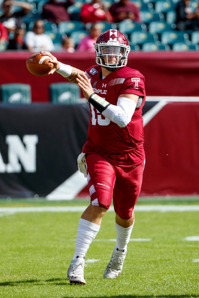 Temple upset No.23 Maryland in what was an overall successful weekend for many American Athletic Conference teams.  Photo from the Associated Press.